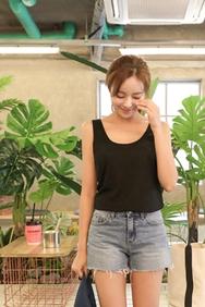 cherrykoko-韩国时尚舒适魅力韩国代购背心女装2017年08月14日08月款