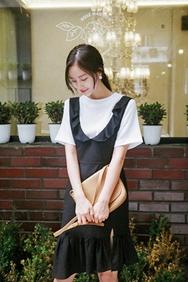 cherrykoko-韩国时尚魅力不规则韩国代购正品连衣裙女装2017年08月14日08月款