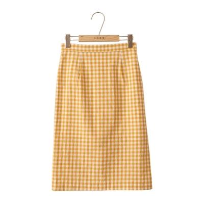 1区韩国本土服装代购(韩国圆通直发)CRKO-时尚流行格纹长裙(2018-04-25上架)