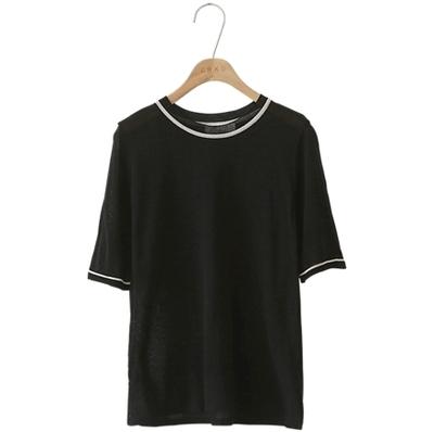 1区韩国本土服装代购(韩国圆通直发)CRKO-时尚魅力圆领针织衫(2018-07-12上架)