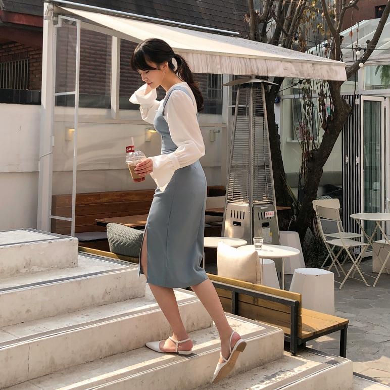 1区韩国本土服装代购(韩国圆通直发)CRKO-连衣裙(2019-03-17上架)
