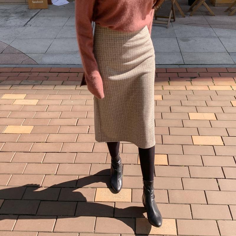 韩国品牌的衣服正宗韩国官网代购韩国直发包国际运费CRKO长裙
