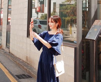 cherryville-纯色青春时尚流行连衣裙