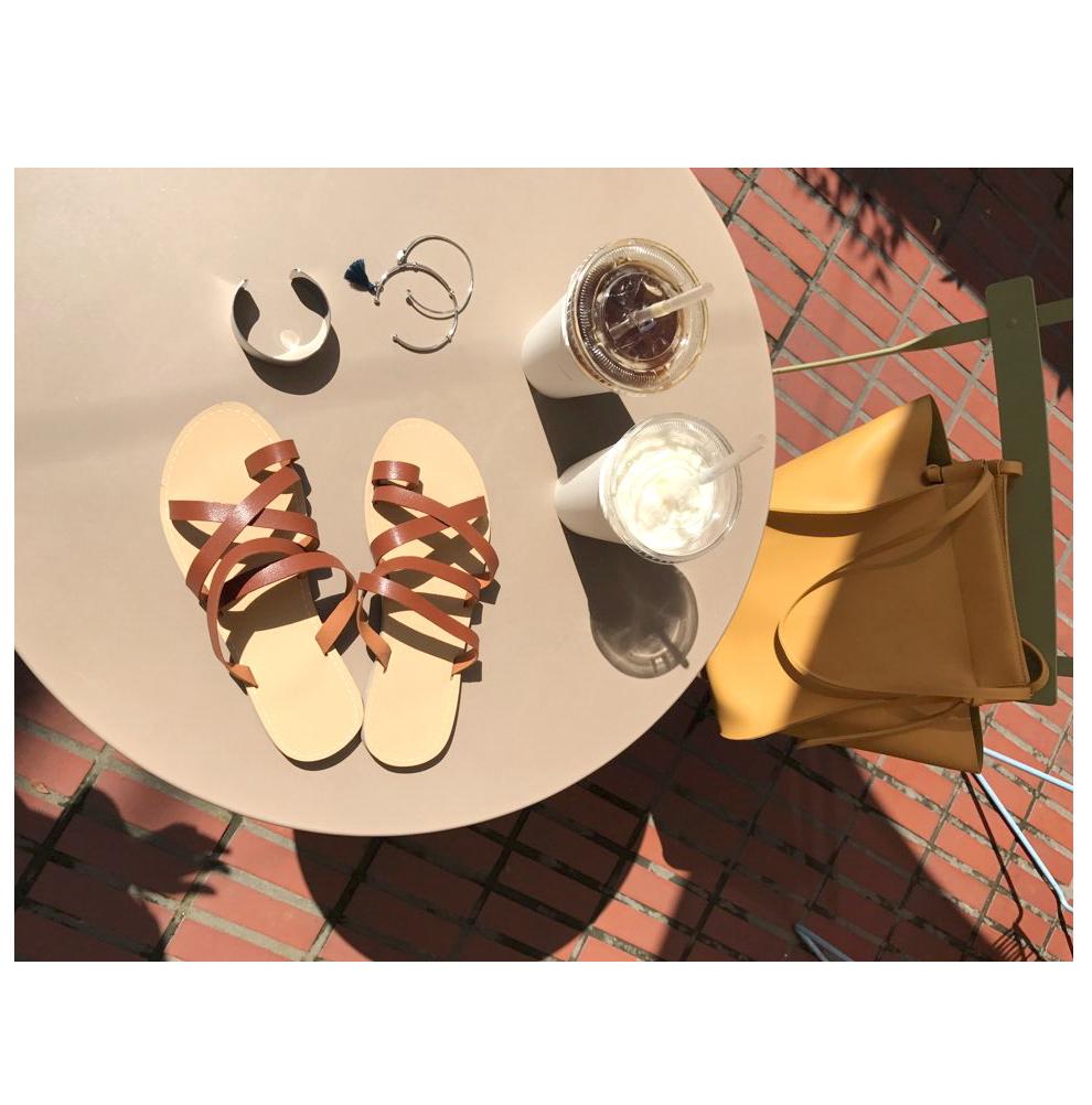 cherryville-韩国夏季个性花纹韩国代购凉鞋女装2017年06月20日06月款