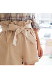 cherryville-韩国蝴蝶腰带可爱时尚韩国代购短裤女装2017年08月01日08月款
