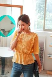 cherryville-韩国韩版魅力个性可爱韩国代购正品衬衫女装2017年08月02日08月款