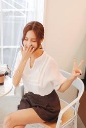 cherryville-韩国韩版女性个性流行韩国代购正品衬衫女装2017年08月07日08月款