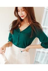 cherryville-韩国韩版魅力个性流行韩国服装代购开襟衫女装2017年08月09日08月款