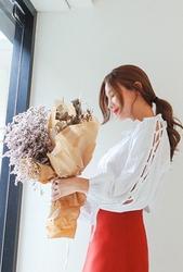 cherryville-韩国韩版魅力纯色个性韩国代购正品衬衫女装2017年08月09日08月款