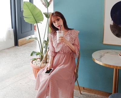 1区韩国本土服装代购(韩国圆通直发)cherryville-优雅魅力新款连衣裙(2018-04-20上架)