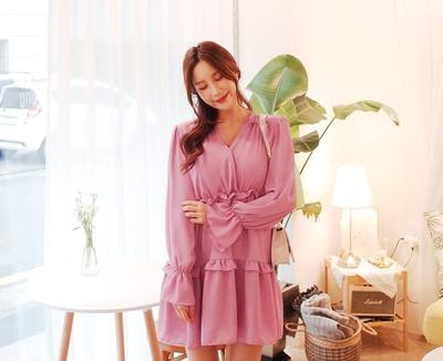 1区韩国本土服装代购(韩国圆通直发)cherryville-纯色舒适新款连衣裙(2018-04-20上架)