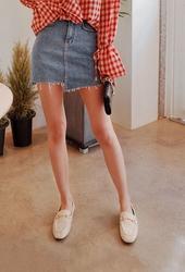 2018新款韩国服装cherryville品牌牛仔短款气质魅力短裙(2018.1月)
