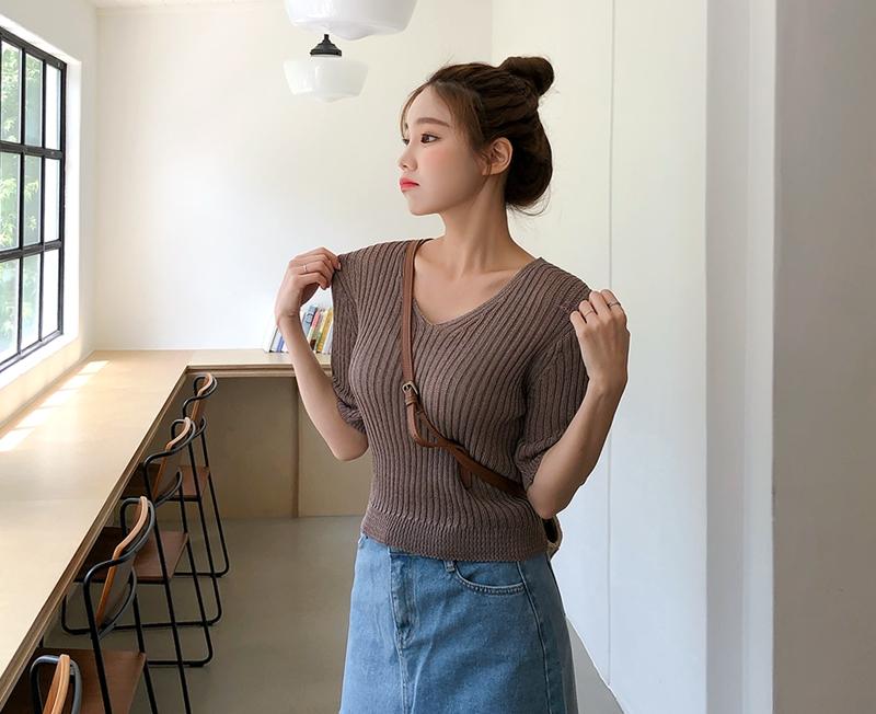 1区韩国本土服装代购(韩国圆通直发)cherryville-针织衫(2019-05-19上架)