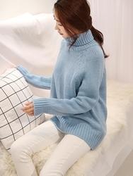 1区韩国代购正品验证chichera-CRKN00830519-时尚宽松简约高领针织衫