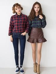 1区韩国代购正品验证chuu-UUSS00779880-明朗魅力韩版纯色短裙
