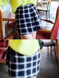 1区韩国代购正品验证chuu-UUSS00782018-韩版魅力时尚格纹短裙