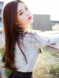 1区韩国代购正品验证chuu-UUKN00784230-时尚魅力韩版纯色针织衫