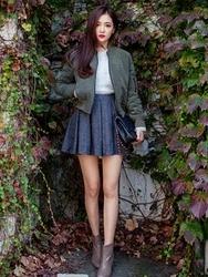 1区韩国代购正品验证chuu-UUJK00784927-魅力时尚韩版纯色夹克