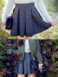 1区韩国代购正品验证chuu-UUSS00784896-魅力时尚韩版格纹短裙