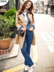 1区韩国代购正品验证chuu-UUCT00784969-明朗魅力韩版纯色大衣