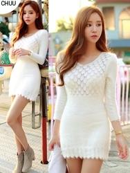 1区韩国代购正品验证chuu-UUOP00785098-优雅魅力韩版新款连衣裙