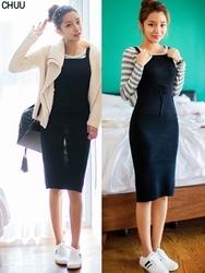 1区韩国代购正品验证chuu-UUOP00788170-时尚魅力韩版纯色连衣裙