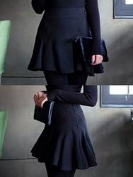1区韩国代购正品验证chuu-UUSS00788172-明朗魅力韩版纯色短裙