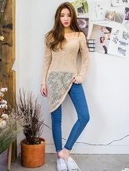1区韩国代购正品验证chuu-UUKN00830472-时尚魅力韩版新款针织衫