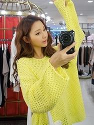 1区韩国代购货源|韩国官网正品chuu-UUKN00862801-时尚魅力韩版纯色针织衫