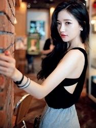 1区韩国代购货源 韩国官网正品chuu-UUBX00872864-明朗魅力韩版纯色背心