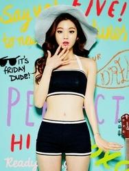 1区韩国代购货源|韩国官网正品chuu-UUBK00872880-浪漫美丽韩版配色泳装