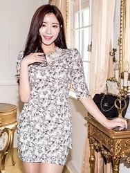 1区韩国代购货源|韩国官网正品chuu-UUOP00874239-浪漫美丽韩版新款连衣裙