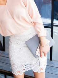 1区韩国代购货源|韩国官网正品chuu-UUSS00876960-明朗魅力韩版纯色短裙