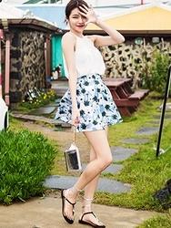 1区韩国代购货源|韩国官网正品chuu-UUSS00879766-魅力时尚韩版花纹短裙
