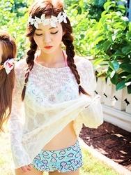 1区韩国代购货源|韩国官网正品chuu-UUKN00898545-圆领纯色长袖新款针织衫