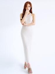 1区韩国代购货源|韩国官网正品chuu-UUOP00901390-纯色圆领无袖韩版连衣裙