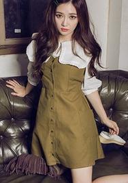 1区韩国服装网店代理一件代发chuu-UUBL00930841-七分袖淑女韩版新款衬衫