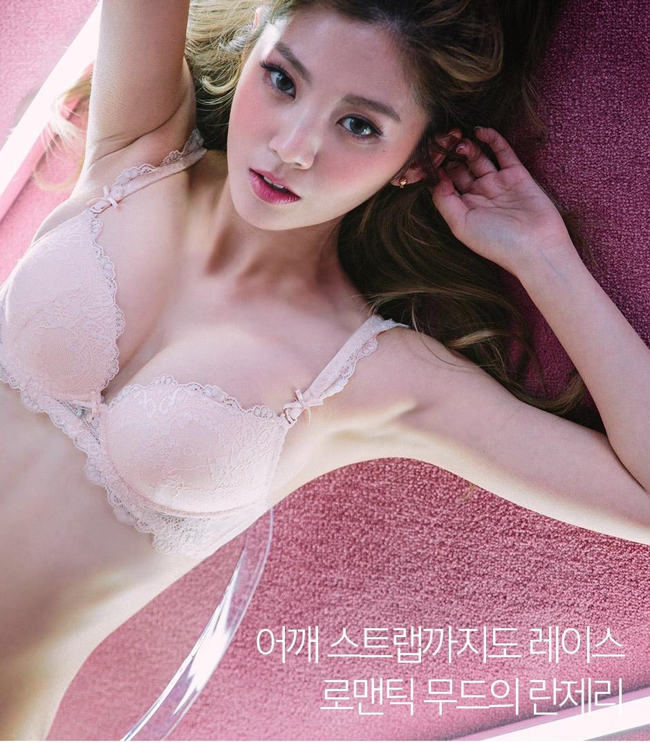 chuu-韩国性感蕾丝花纹文胸套装女装2016年10月01日