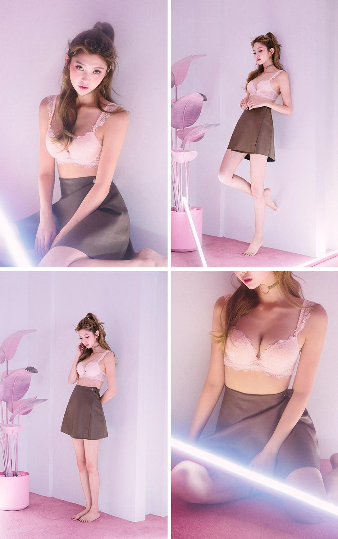 chuu-韩国性感蕾丝花纹文胸套装女装2016年10月01日1