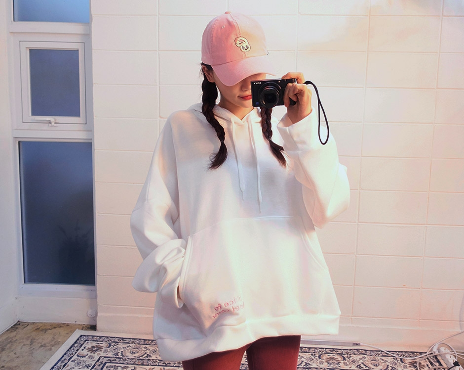 chuu-韩国可爱时尚宽松韩国代购卫衣(制作商品)女装