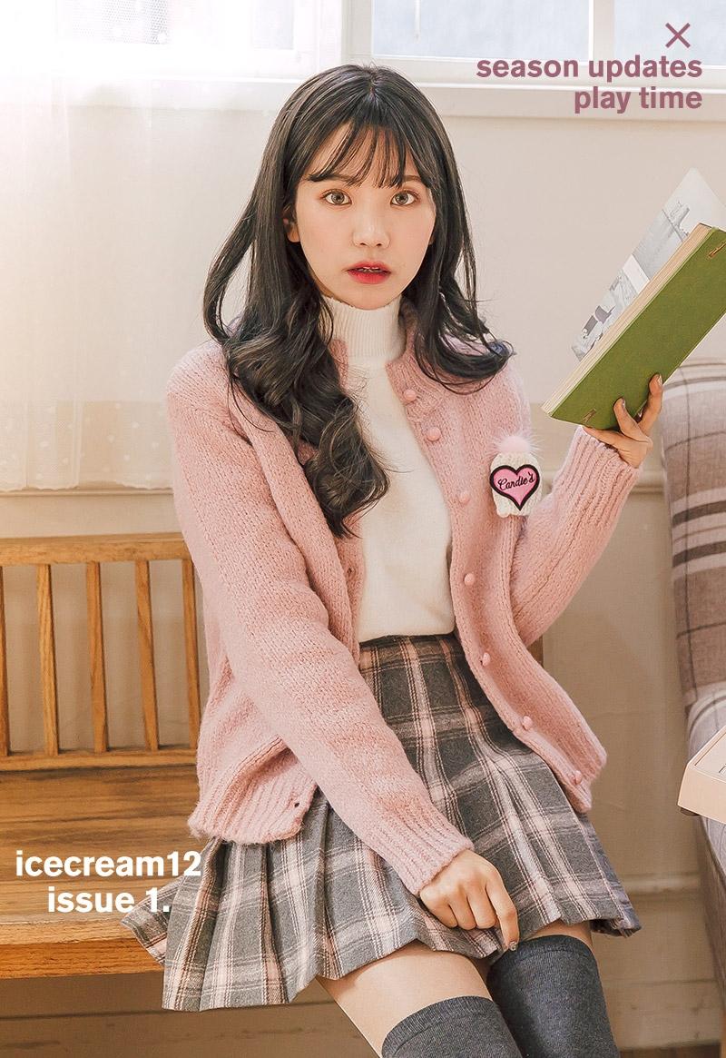 chuu-韩国春季时尚可爱韩国服装代购开襟衫女装2017年