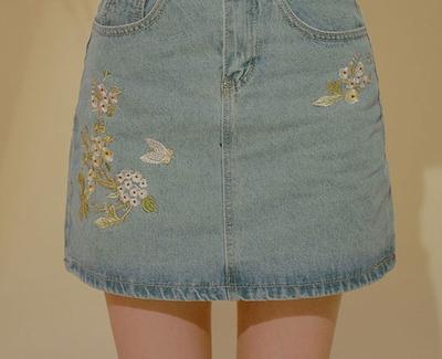 chuu-刺绣高档魅力短裙
