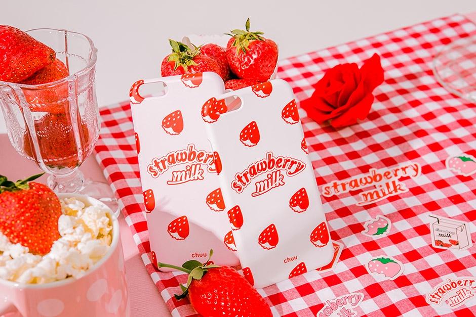 chuu-草莓图案可爱新款手机套