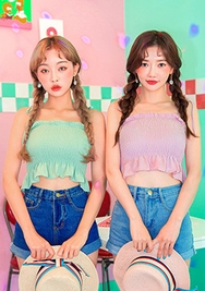chuu-韩国舒适轻便百搭韩国代购吊带女装2017年07月26日夏季款