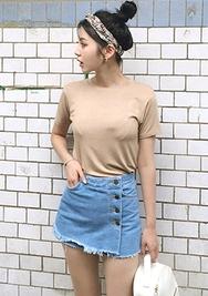 chuu-韩国百搭时尚牛仔韩国正品女装代购网裙裤女装2017年07月26日夏季款