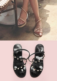 chuu-韩国舒适高档珍珠平底鞋女装2017年07月26日夏季款