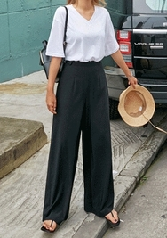 chuu-韩国舒适轻便人气韩国代购长裤女装2017年07月28日夏季款