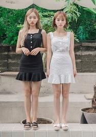 chuu-韩国荷叶底轻便休闲套装女装2017年07月28日夏季款