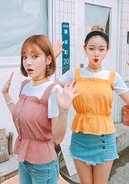 chuu-韩国轻便百搭高档韩国代购吊带女装2017年07月31日夏季款