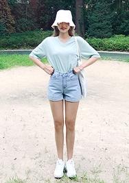 chuu-韩国复古百搭高档韩国代购短裤女装2017年07月31日夏季款